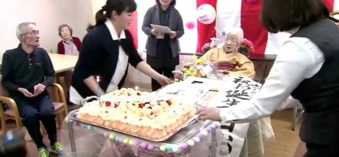 En yaşlı insan: 117 yaşındaki Japon kadına huzurevinde doğumgünü partisi