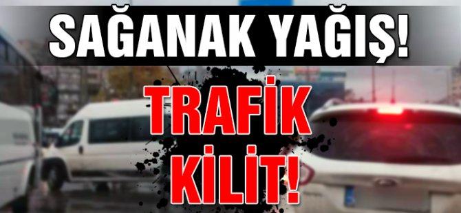 Hamitköy-Erülkü arasında trafik kilitlendi!