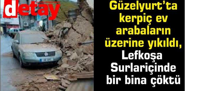 Lefkoşa Surlariçinde kullanılmayan bir bina çöktü
