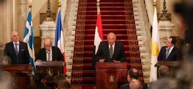 Güney Kıbrıs da dahil 5 ülkenin  dışişleri bakanları Kahire'de bir araya geldi