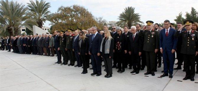 Kururcu Cumhurbaşkanı Denktaş, 8'inci ölüm yıl dönümünde TMT Anıtı'nda törenle anıldı