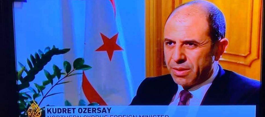 HP Vekili, Dışişleri Bakanı Özersay El Cezire TV'sine demeç verdi