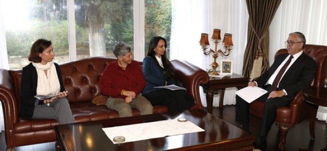 Cumhurbaşkanı Akıncı, EMAA Başkent Sanat Merkezi heyetini kabul etti