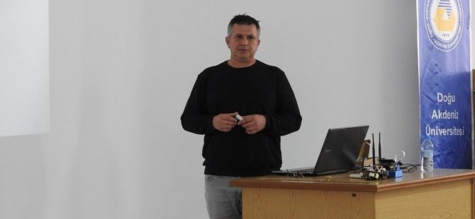 Cyprus Robotıcs'in sahibİ Tezel Çelebi DAÜ'de konferans verdi