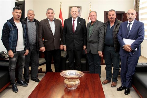 atar bugün Taşeronlar Birliği Başkanı Osman Amca ve Yönetim Kurulu üyelerini kabul etti
