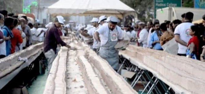 Dünyanın en uzun pastası: Uzunluğu 6.5 kilometre, ağırlığı 27 ton