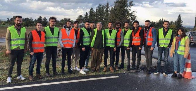 """LAÜ'de """"Güvenli Yol Tasarımı"""" dersi kapsamında teknik gözlem gezisi düzenlendi"""