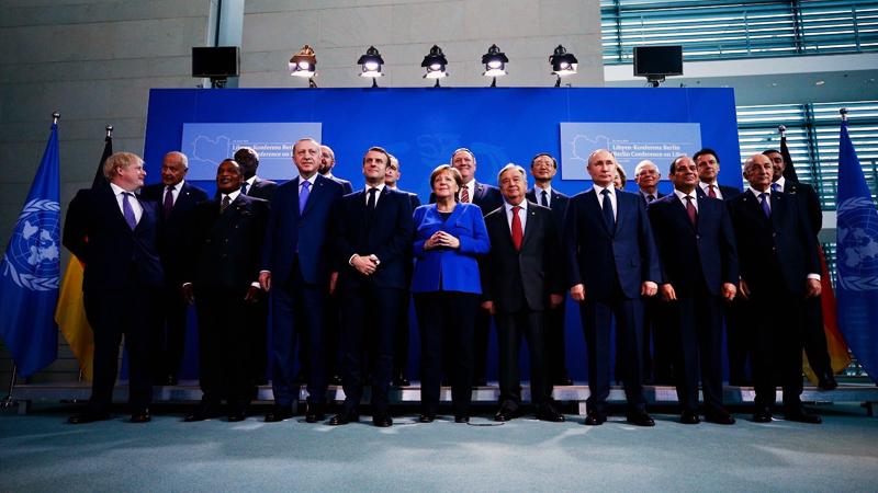 Berlin'de düzenlenen Libya Konferansı başladı: Aile fotoğrafı çekildi