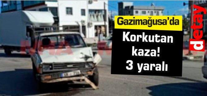 Gazimağusa'da korkutan kaza! 3 yaralı