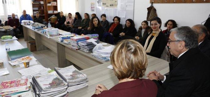 Cumhurbaşkanı Akıncı Polatpaşa İlkokulu'nda İklim Değişikliği Eğitimini İzledi