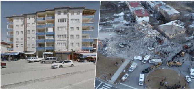 Elazığ'da altı katlı binanın çökmeden önceki fotoğrafları