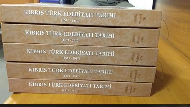 5 ciltlik Kıbrıs Türk Edebiyatı Tarihi yayımlandı