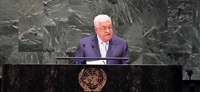 """Abbas, BGMK'de konuştu: """"İsrail, uluslararası parametrelere göre barışa ve müzakerelere hazırsa, ben de derhal görüşmelere başlamaya hazırım"""""""
