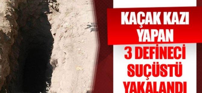 Tuzluca-Kurtuluş bölgesinde 3 defineci yakalandı