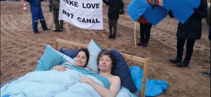 Polonya'da 'kanal' protestosu: Make Love Not Canal