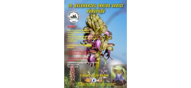"""""""Orkide Vadisi Orkide Gözlem Yürüyüşü"""" 1 Mart Pazar Lefke'de Yapılacak"""
