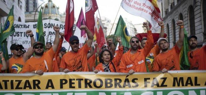 Brezilya'da Petrol İşçilerinin Grevi 18'inci Gününde