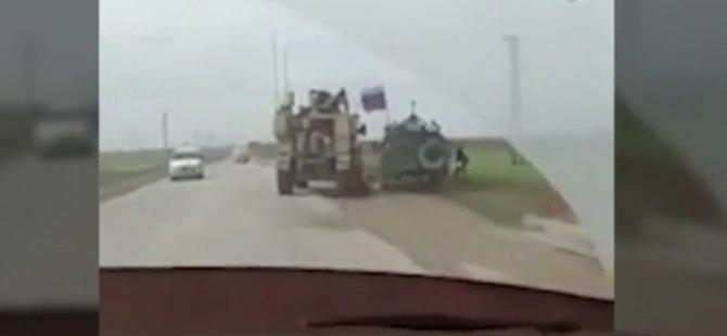 Suriye'de ABD askeri aracı Rusya'ya ait zırhlı aracın yolunu kesmeye çalıştı
