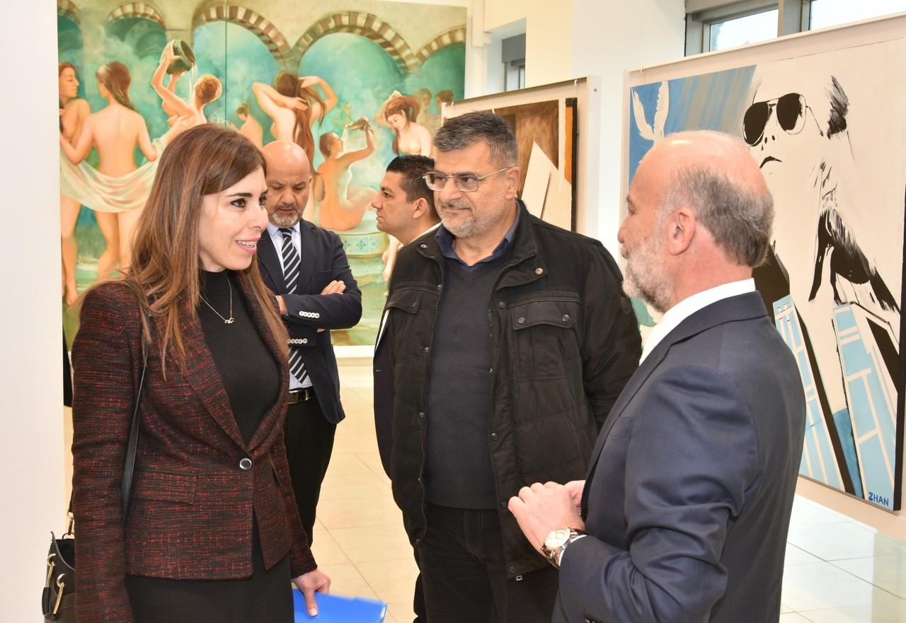 Kazak sanatçıların Kıbrıs Modern Sanat Müzesi için hazırladığı karma resim sergisi açıldı
