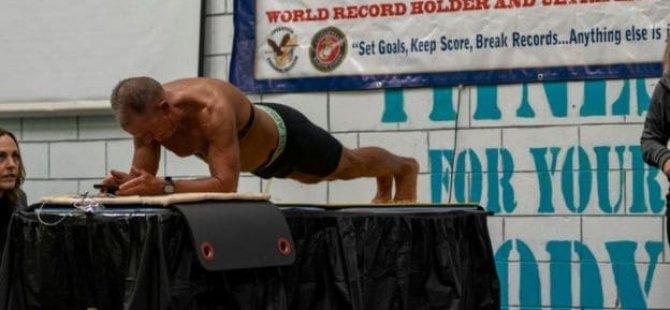 Dünya plank rekoru: Sekiz saat 15 dakika 15 saniye