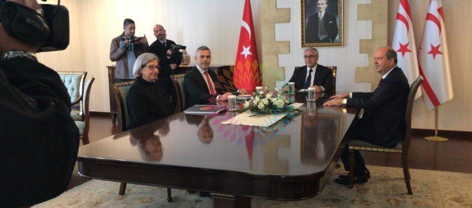 Akıncı, Uluçay, Tatar ve Şefik'le bir araya geldi