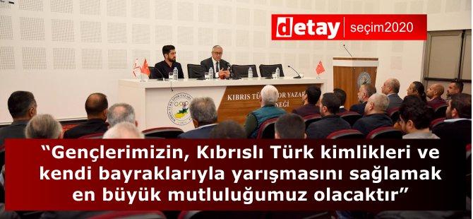 """""""Gençlerimizin, Kıbrıslı Türk kimlikleri ve kendi bayraklarıyla yarışmasını sağlamak en büyük mutluluğumuz olacaktır"""""""