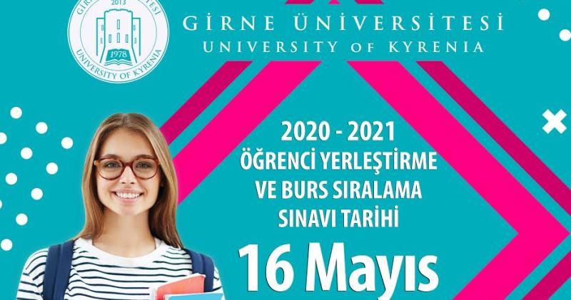 Girne Üniversitesi 2020 Burs Sıralama Sınavı 16 Mayıs'ta Yapılacak
