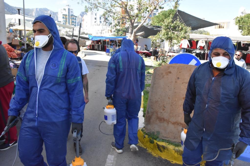Girne kenti ilaçlanıyor