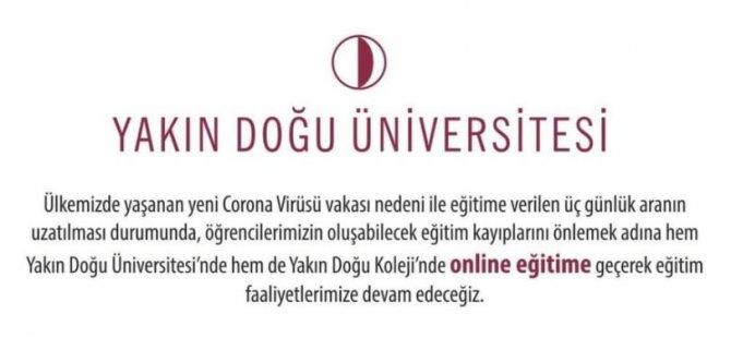 Yakın Doğu online eğitim verecek