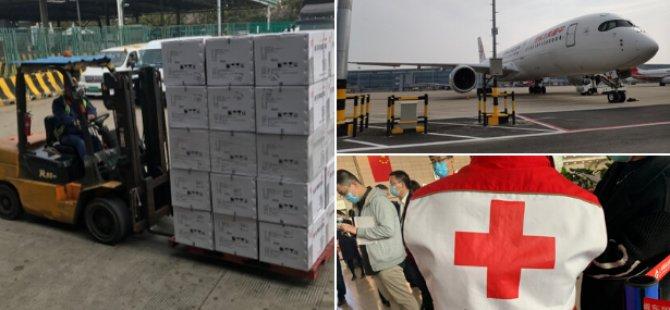 Çin'den Güney Kıbrıs'a İlk Tıbbi Malzeme Yardımı Ulaştı