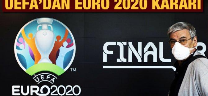 UEFA, EURO 2020'yi 1 yıl erteledi