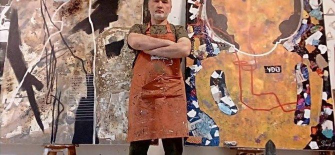 Kıbrıs Modern Sanat Müzesi için Sanatçı Andrey Orazbayev koronavirüs salgınına karşı tepkisini içsel ifadelerle tuvale taşıdı