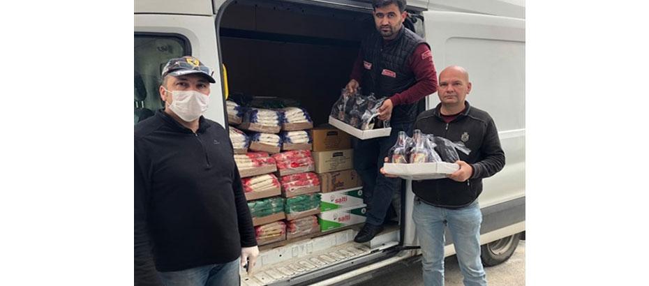 Maraş Avcılık Atıcılık Birliği 'nden ihtiyaçlı ailelere yardım paketi