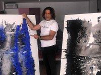 Sanatçı Serkan İlseven, mücadeleyi figüratif dokunuşlar ile tuvale yansıttı
