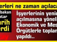 İş yerleri ne zaman açılacak? Başbakan Tatar tarih verdi