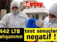 442 LTB çalışanının test sonuçları negatif !