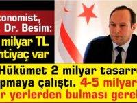 Prof. Dr. Besim:6-7 milyar TL ye ihtiyaç olduğu söyleniyor