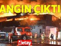 Haspolat'ta bulunan bir fabrikada yangın çıktı!