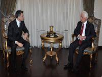 Eroğlu, Vodafone CEO'su ve Telsim müdürünü ağırladı