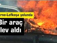 Boğaz'da bir araç yandı!