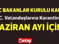 Çavuşoğlu, Bakanlar Kurulu'nda öğrenci gelişleri ile ilgili kararın Haziran ayı için olduğuna dikkat çekti #Kıbrısrezaleti