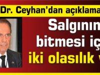 Prof. Dr. Ceyhan: Salgının bitmesi için iki olasılık var