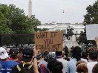 Washington DC'deki Floyd gösterileri sakin geçti