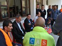 Denktaş CAS çalışanlarıyla görüştü
