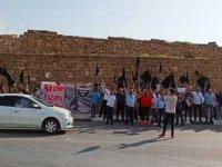 """Birleşik Eylem Komitesi, Mağusa'da eylem yaptı: """"İşsizlik çığ gibi büyüyor"""""""