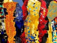 """""""Mevlevi Dervişi"""", """"Çiçekler"""" ile """"Sonbahar"""" adlı üç eserini Kıbrıs'ın motifleri ile renklerini tasvir ederek sanatseverlerin beğenisine sundu"""