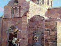 """""""St.Barnabas Manastırı"""", """"Lala Mustafa Paşa Camii"""",""""Selimiye Camii"""" ve """"Arap Ahmet Paşa Camii""""adlı dört eserinituvaline taşıyarak sanatseverlerin beğenisine sundu"""