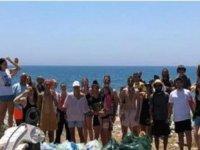 Alagadi'de yaklaşık 200kg Çöp Toplandı