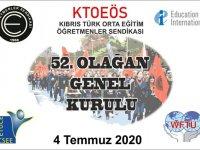 Kıbrıs Türk Orta Eğitim Öğretmenler Sendikası'nın 52. Olağan Genel Kurulu bugün yapılıyor