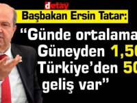 """Tatar:""""Günde ortalama Güneyden 1,500, Türkiye'den 500 geliş var"""""""